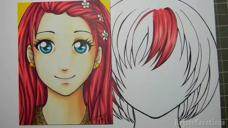 How To Draw Hair With Copic Markers Curious Com