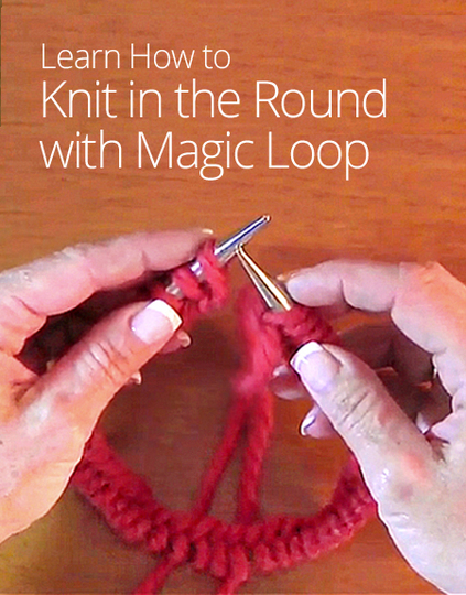Knitting In The Round : How to knit in the round with magic loop curious