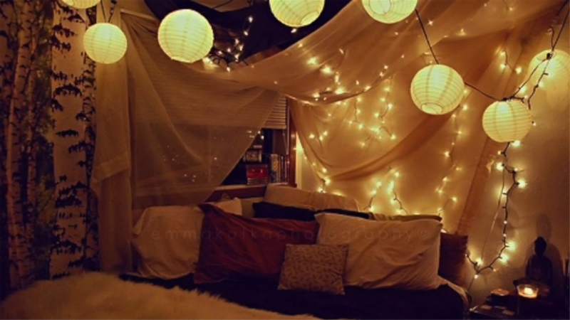 Diy Bed Canopy lighted wall or bed canopy for diy decor
