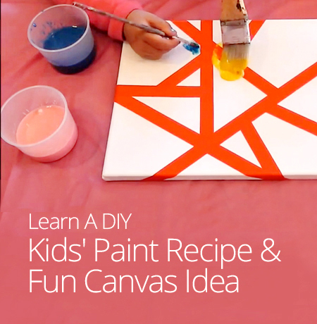 DIY Kids Paint Recipe Fun Canvas Idea