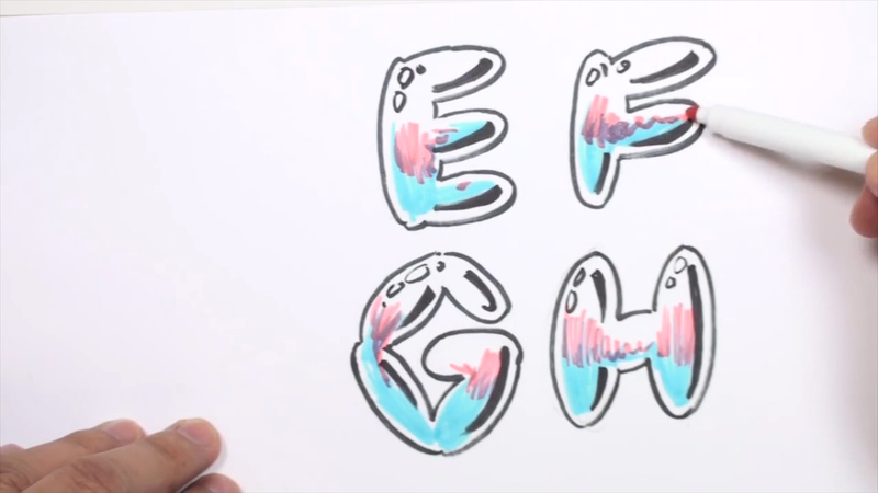 graffiti bubble letters drawing graffiti letters efgh curious 1261