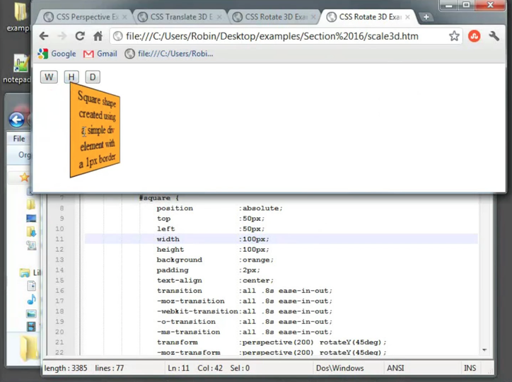 The CSS3 Matrix Transform Function