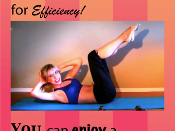 A Fun & Efficient lesson for you: Fit in a Flash Pilates!