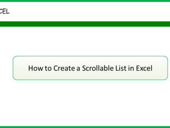 Super Excel Tip - How to create a Scrollable List in Excel