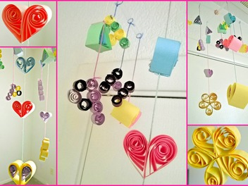 New Curious lesson - DIY Paper Quilling Hanging Mobile