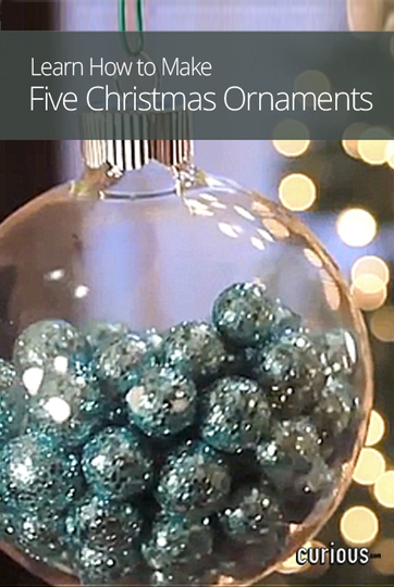 how to make five christmas ornaments. Black Bedroom Furniture Sets. Home Design Ideas