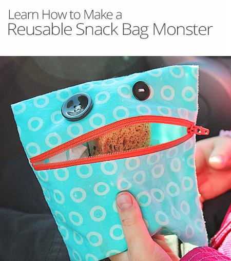 Diy Reusable Snack Bag Monster