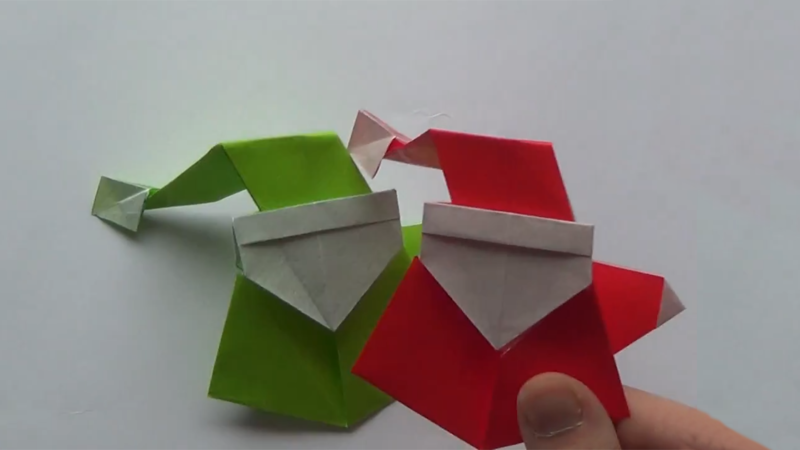 how to make an origami santa claus curiouscom