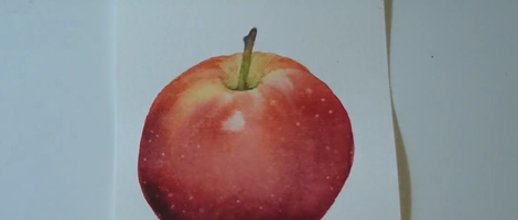 Painting an Apple with Watercolors