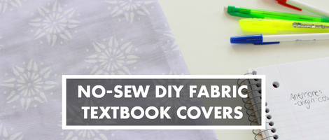 DIY No-Sew Fabric Book Cover
