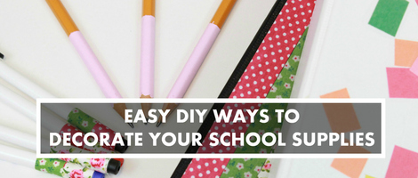 DIY Decorated School Supplies